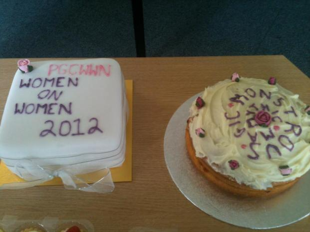 End of series celebration cakes at the University of Leicester